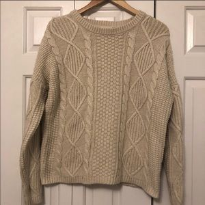 Anthropologie Tulle Chunky Knit Sweater